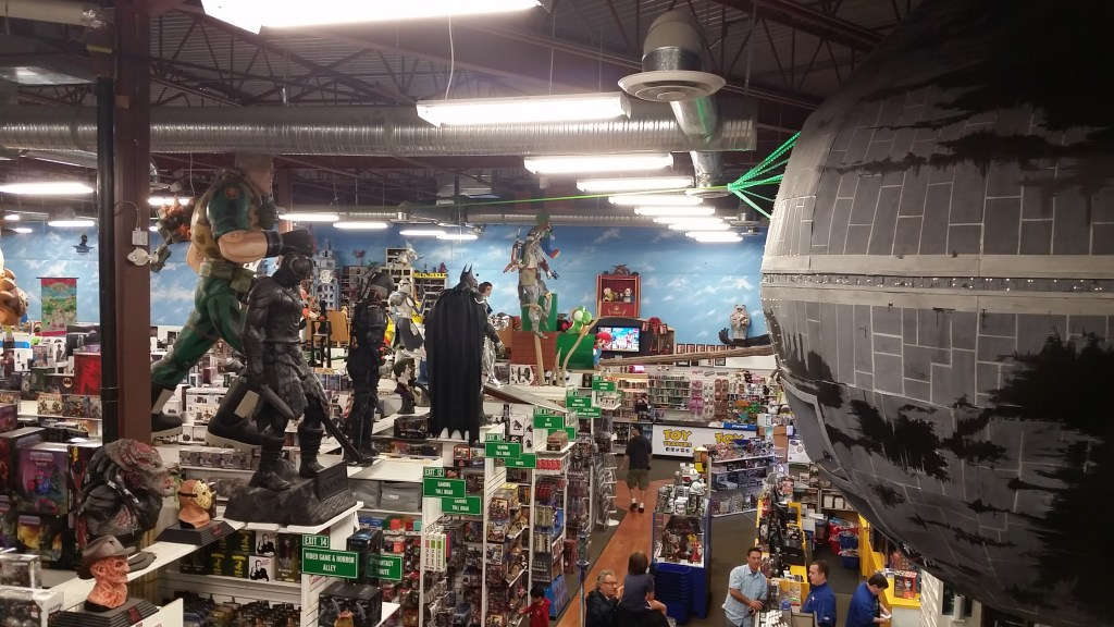 The view from the top at Toy Traders Langley