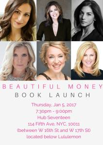 beautiful money book launch