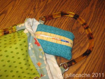 handmade purse and pocket tissue holder