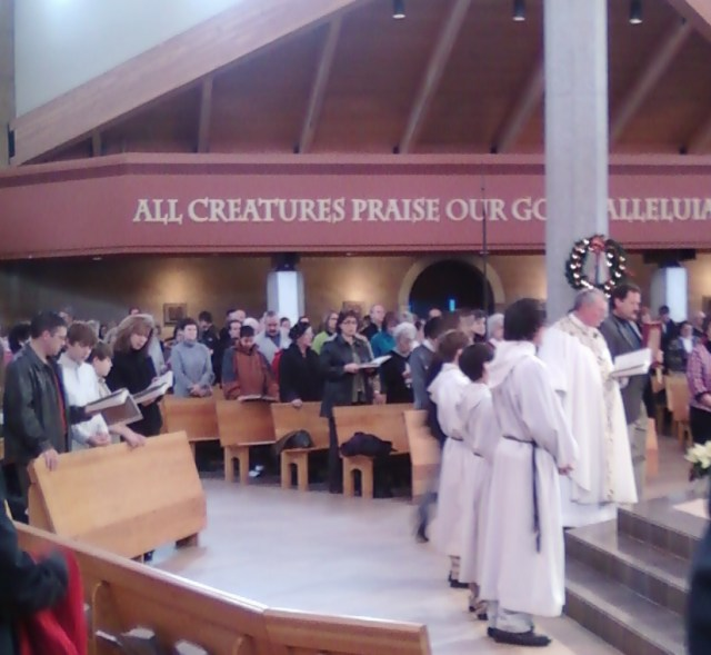 serving at mass
