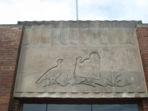 turkeys above the east door