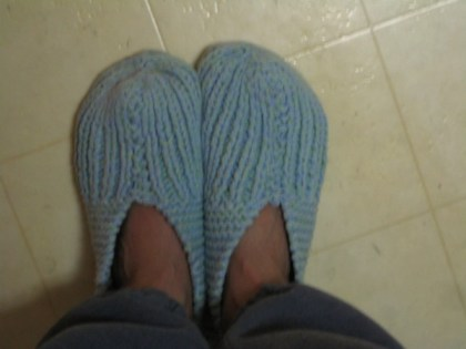 handknit slippers