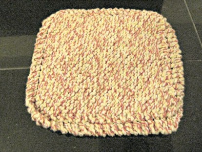 knitted dishcloth juliecache craft