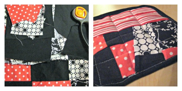 sewing, potholder