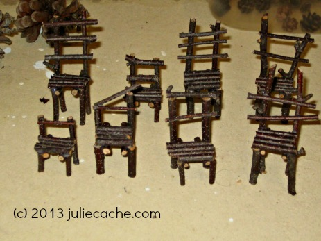 tiny fairy chairs miniature world by juliecache