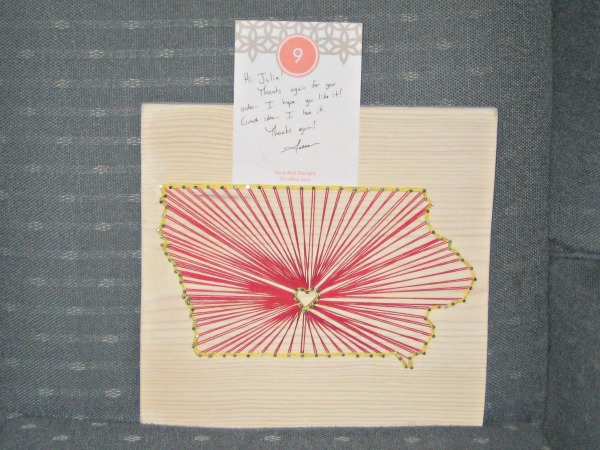 nine red, string art, handmade