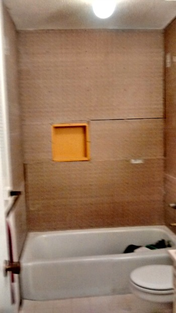 master bath wall board