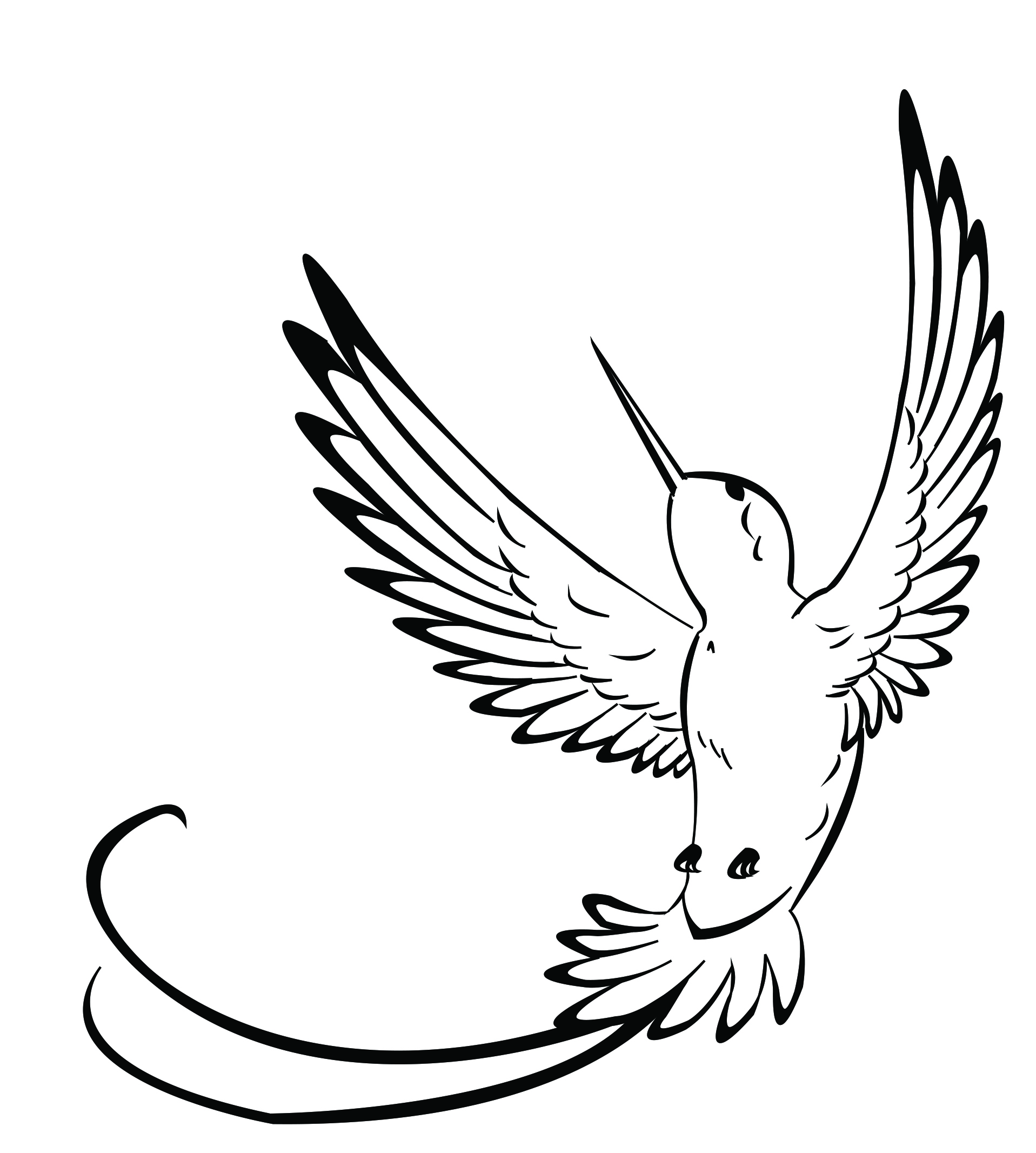 Simple Hummingbird Coloring Pages