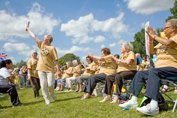 How do you get 100 old people dancing?