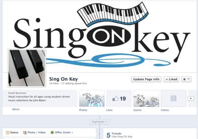 Sing On Key Facebook
