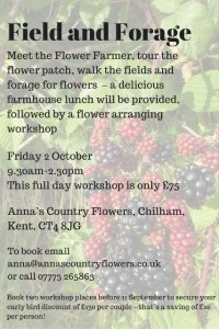 flower arranging workshops Kent