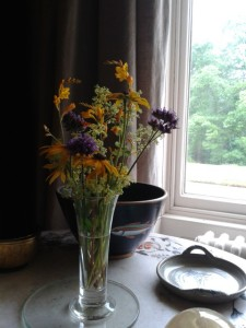 Vase of flowers at the National Trust