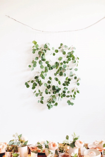 Eucalyptus wall hanging from Decorate for a Party