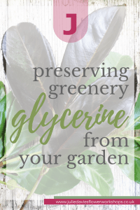 Preserving greenery with glycerine