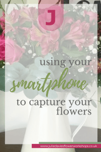 photographing flowers with phone