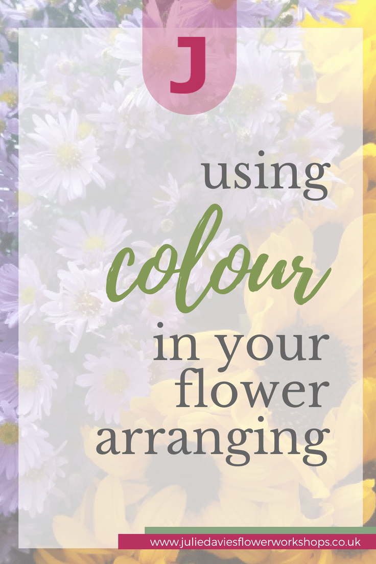 using colour in flower arranging