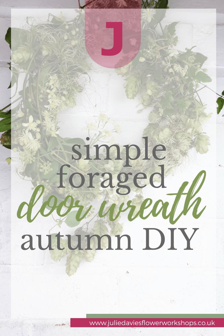 foraged autumn door wreath