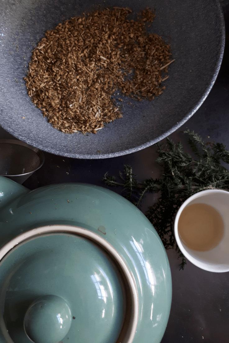 flowers and herbal teas