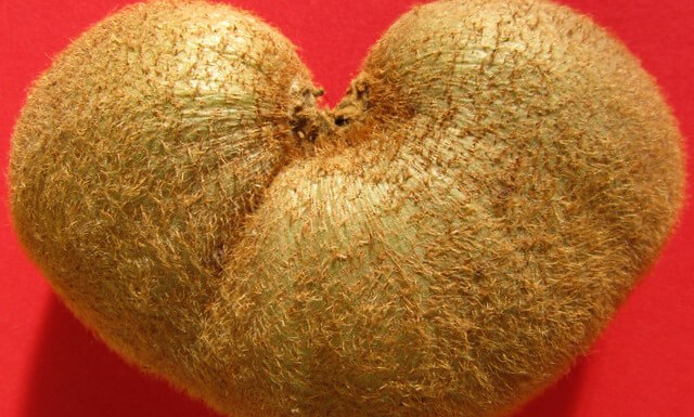 Heart-shaped Kiwi