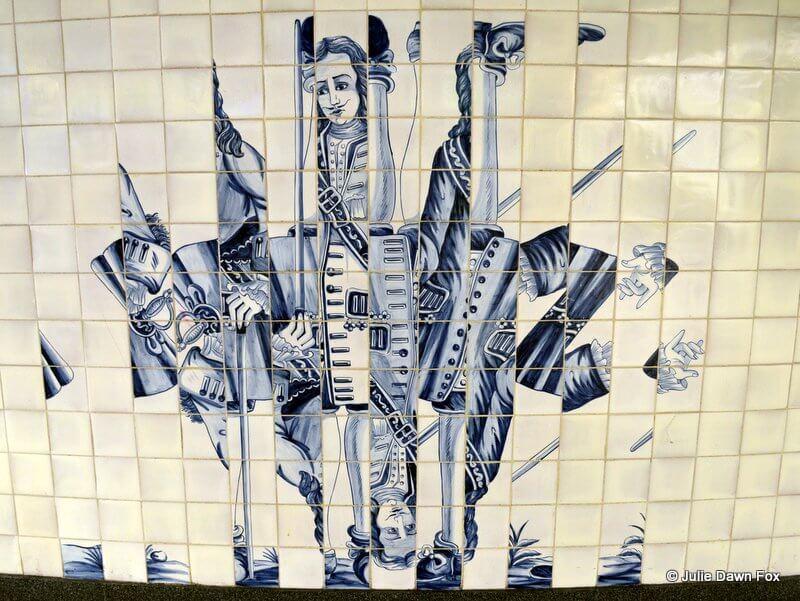 Jumbled azulejos by Eduardo Nery