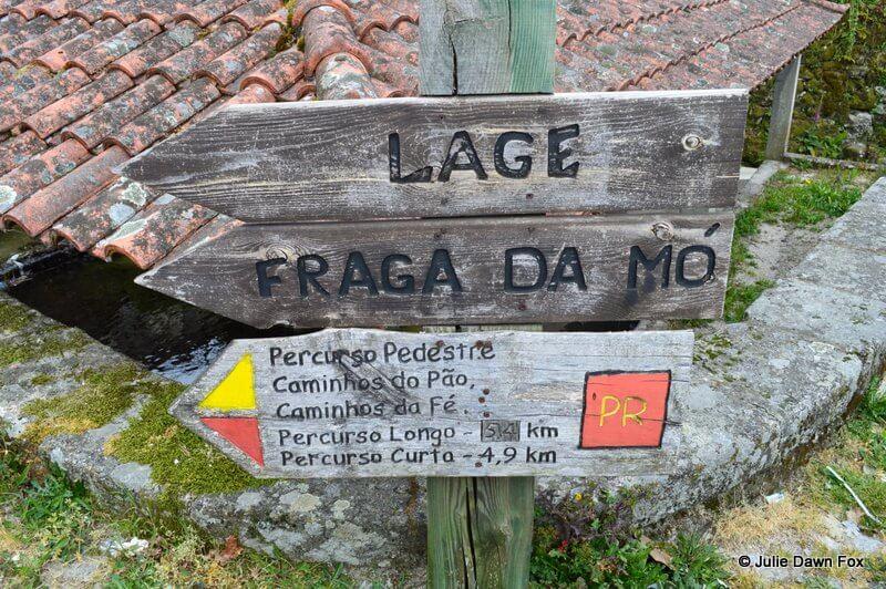Signpost for walking trails, Peneda Gerês National Park