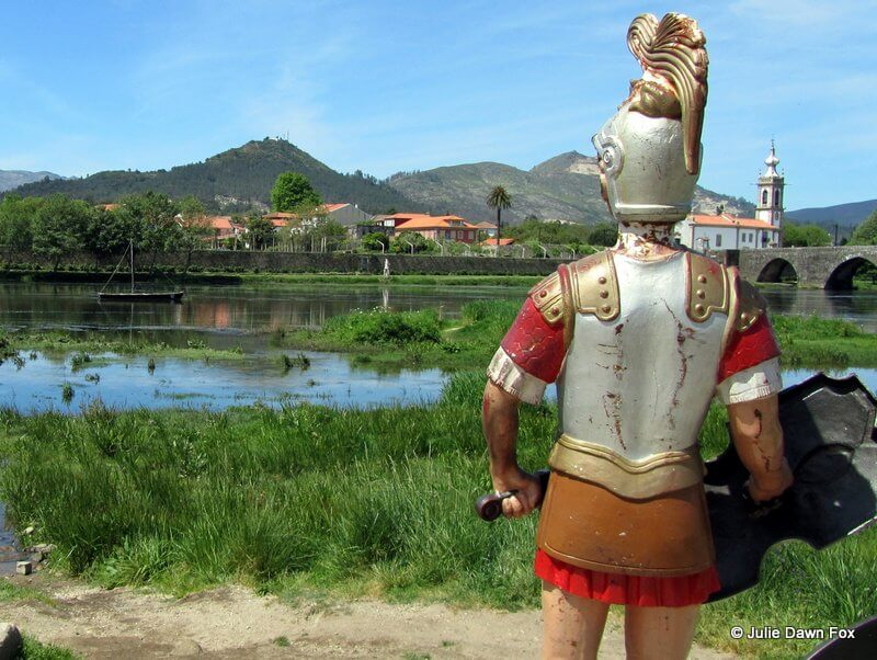 Roman soldier waiting to be called across the river Lima by name.