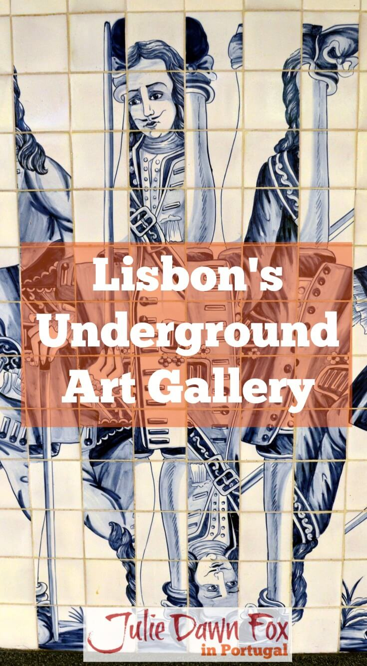 Lisbon Metro underground art gallery. Metro art in Portugal's capital city