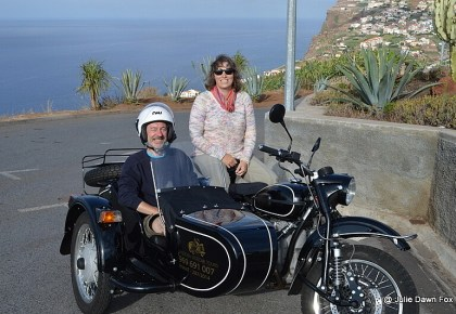Mike and Julie on a Madeira Sidecar Tour