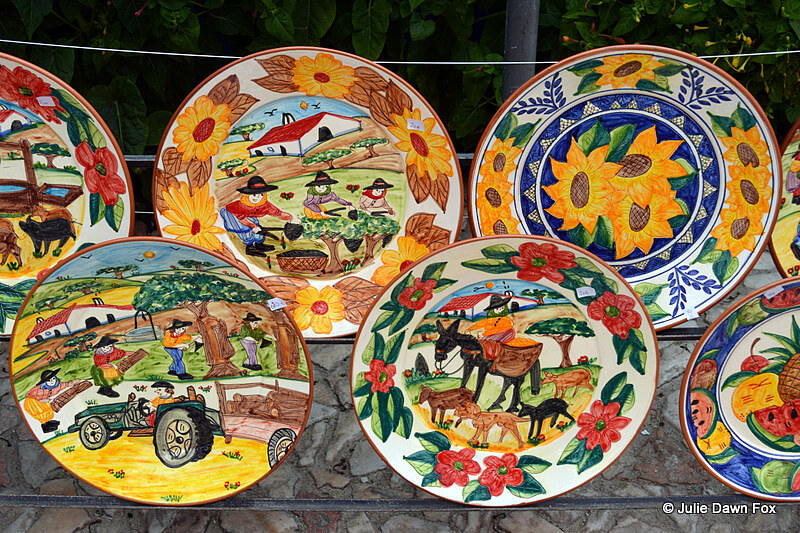 Traditional Portuguese Pottery In Redondo Alentejo & Portuguese cattle yokes