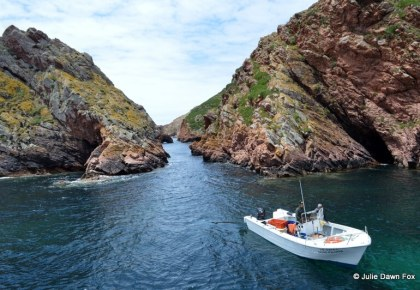 Motorboat and caves, Berlenga island