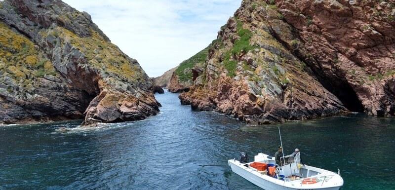 Motorboat and caves, Berlenga island