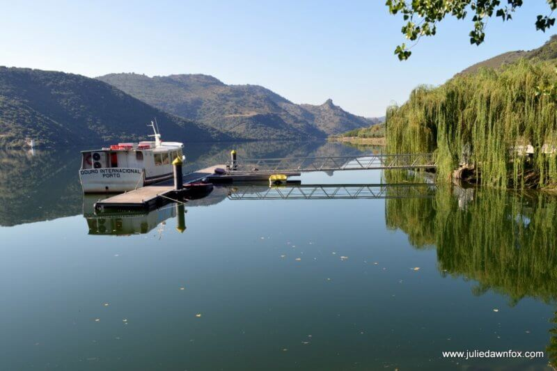 Waiting for the boat trip through the International Douro Natural Park at Congida river beach