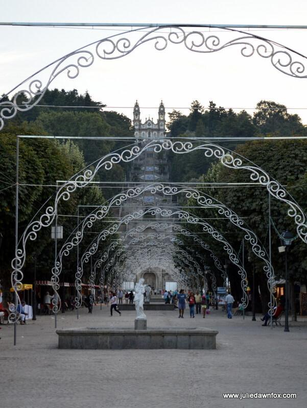 Lamego with festival lights