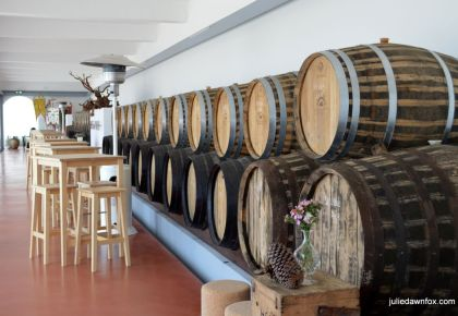 Tasting room at Quinta do Piloto winery