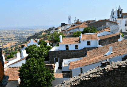Monsaraz village, Alentejo, Portugal, viewed from the castle