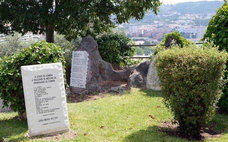 Odes to university and Coimbra life, Penedo da Saudade Coimbra