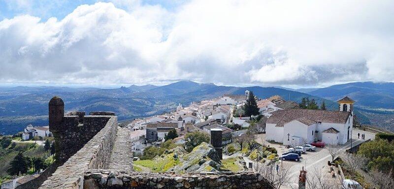 Marvão village and Serra de São Mamede seen from the castle walls