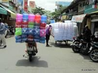 Overloaded motorbikes
