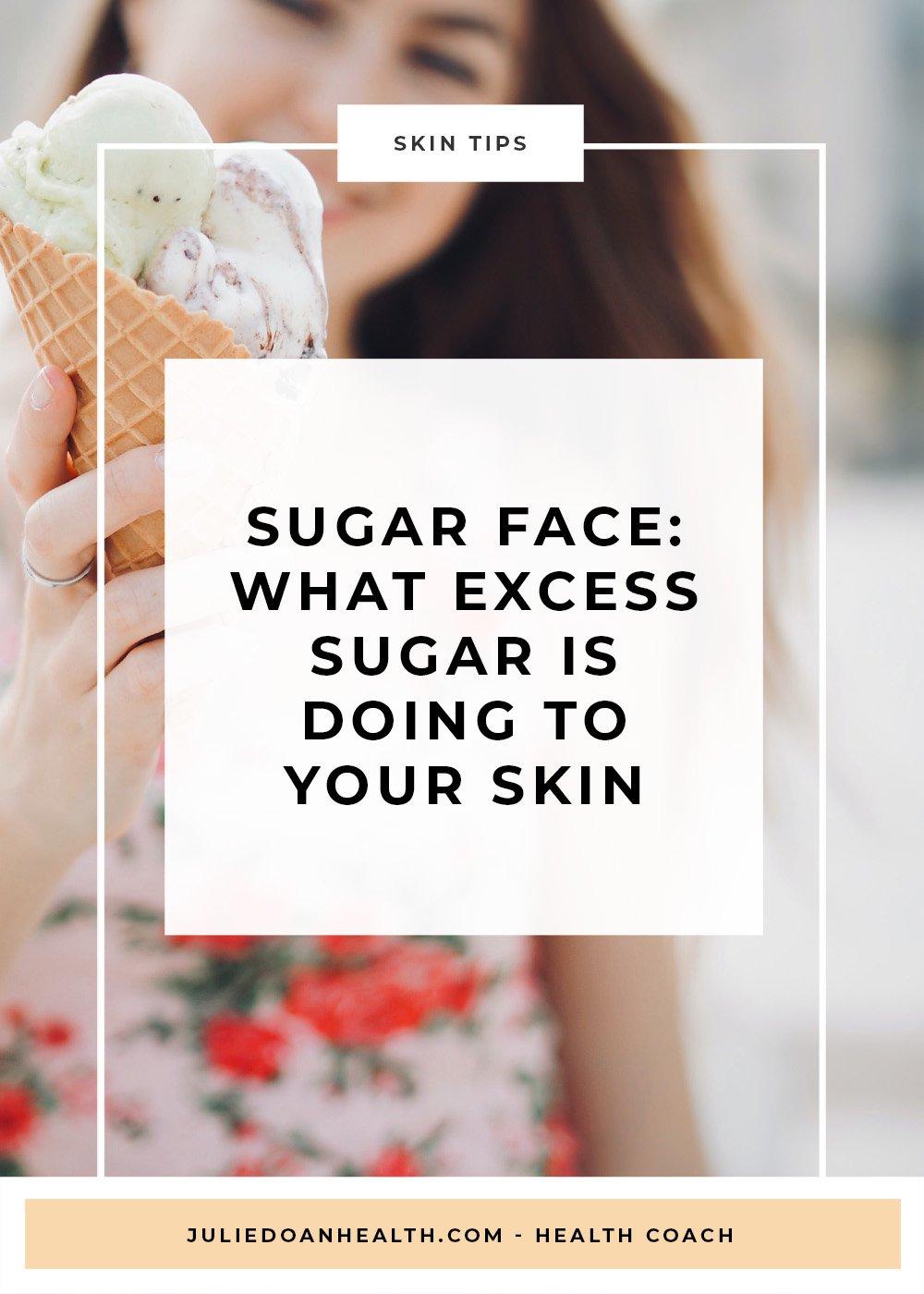 sugar skin acne aging