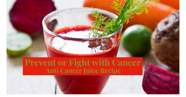 Vegie Juice excellent for Prevention or Overcoming Cancer