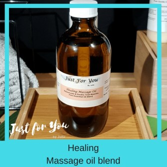 Healing Massage Oil Blend Soothe Aching Tired Muscles