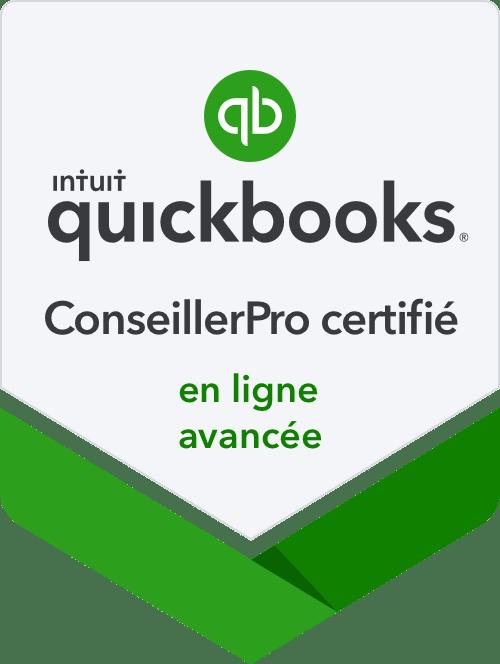 Certifiés ConseillerPro Quickbooks! Déléguez votre comptabilité!