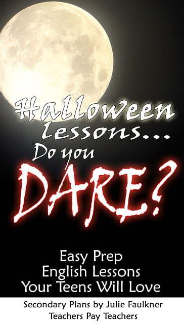 Halloween Lessons for High School
