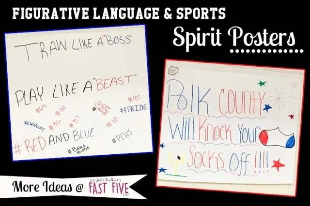 Football Figurative Language English Class Sports-Theme Lesson Ideas