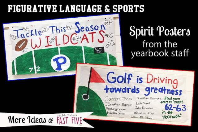 sports themed lesson ideas for secondary english language arts