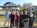 Justin D'Ath, Meredith Contain, Robert Favretto, Julie Fison, Pamela Rushby, Michael Gerard Bauer, Royce Bond preparing for the Central Queensland Literary Festival