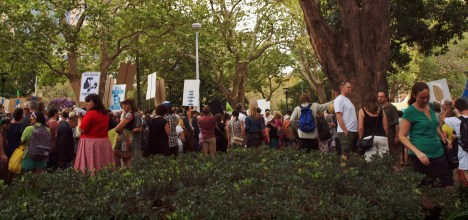 Protesters in Sydney March in March 2014 #marchinmarch