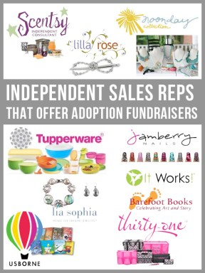 Independent Sales Reps that Offer Adoption Fundraisers
