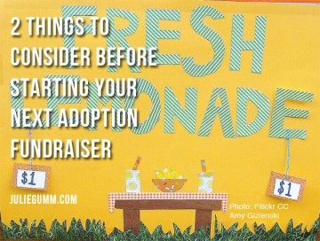 2 Things to Consider Before Starting Your Adoption Fundraiser