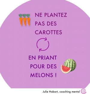 Ne plantez pas des carottes en priant pour des melons